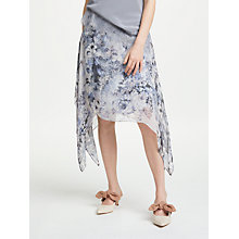 Buy Modern Rarity Mottled Floral Archive Print Skirt, Cornflower Online at johnlewis.com