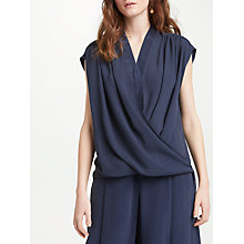 Buy Modern Rarity Wrap Front Blouse, Blue Steel Online at johnlewis.com