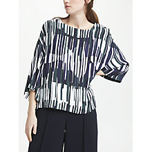 Buy Kin by John Lewis Shuya Boxy Abstract Print Top, Multi Online at johnlewis.com