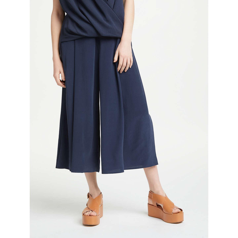 Modern Rarity Silk Side Split Culottes, Blue Steel by Modern Rarity