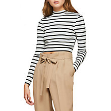 Buy Miss Selfridge Striped Funnel Neck T-Shirt, Assorted Online at johnlewis.com