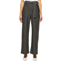 Buy Miss Selfridge Petite Stripe Paperbag Trousers, Multi Online at johnlewis.com