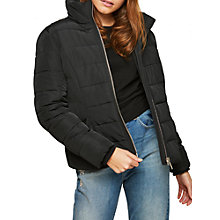 Buy Miss Selfridge Puffer Jacket, Black Online at johnlewis.com