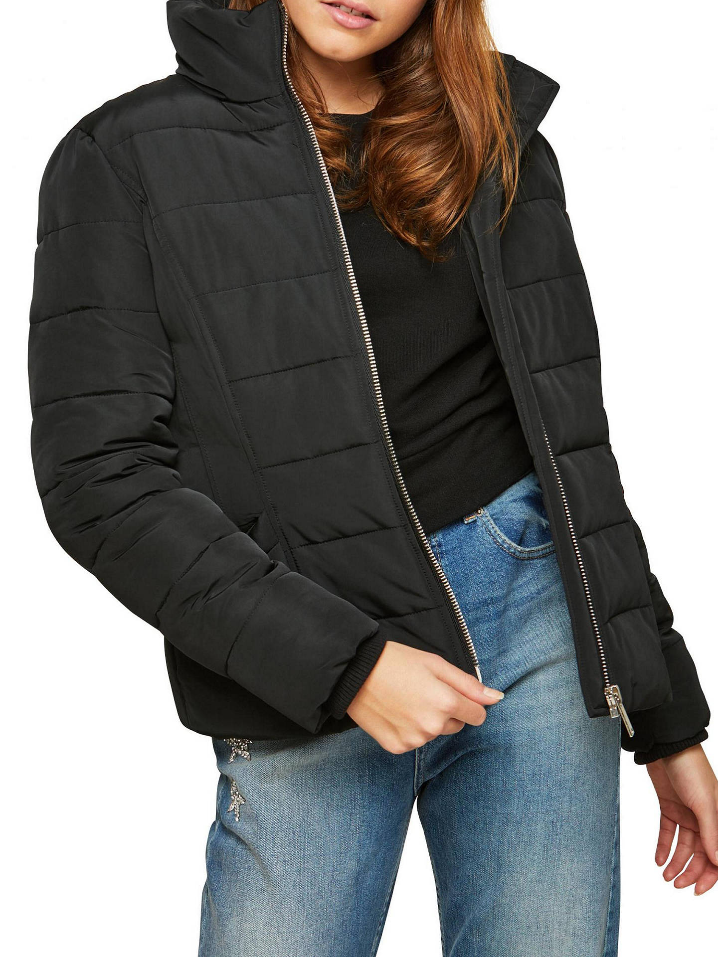 f24070d99 Buy Miss Selfridge Puffer Jacket, Black, 6 Online at johnlewis.com ...