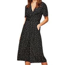 Buy Miss Selfridge Petite Star Jumpsuit, Black Online at johnlewis.com