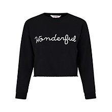 Buy Miss Selfridge Petite Wonderful Sweatshirt, Black Online at johnlewis.com