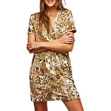 Buy Miss Selfridge Sequin Velour Dress Online at johnlewis.com