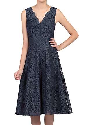 Jolie Moi Scalloped Lace Prom Dress