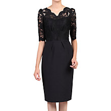 Buy Jolie Moi Half Sleeve Lace Dress, Black Online at johnlewis.com