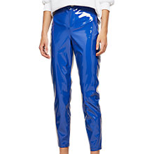 Buy Miss Selfridge Steffi Vinyl Trousers, Blue Online at johnlewis.com