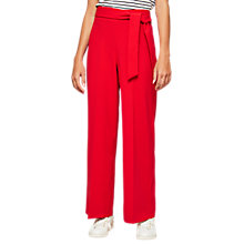 Buy Miss Selfridge Petite Wide Leg Tie Trousers, Online at johnlewis.com