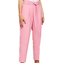 Buy Miss Selfridge Petite Paper Bag Trousers, Pink Online at johnlewis.com