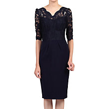 Buy Jolie Moi Elbow Sleeve Lace Bodycon Dress Online at johnlewis.com