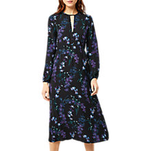 Buy Warehouse Gilly Midi Dress, Black Pattern Online at johnlewis.com