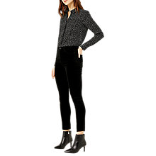 Buy Warehouse Star Print Shirt, Black Online at johnlewis.com