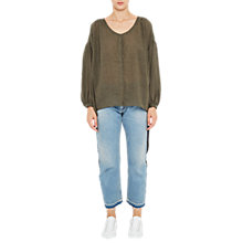 Buy French Connection Betsy Draped Top, Dusty Olive Online at johnlewis.com