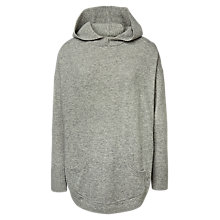 Buy Fat Face Knitted Lounge Hoodie, Grey Marl Online at johnlewis.com