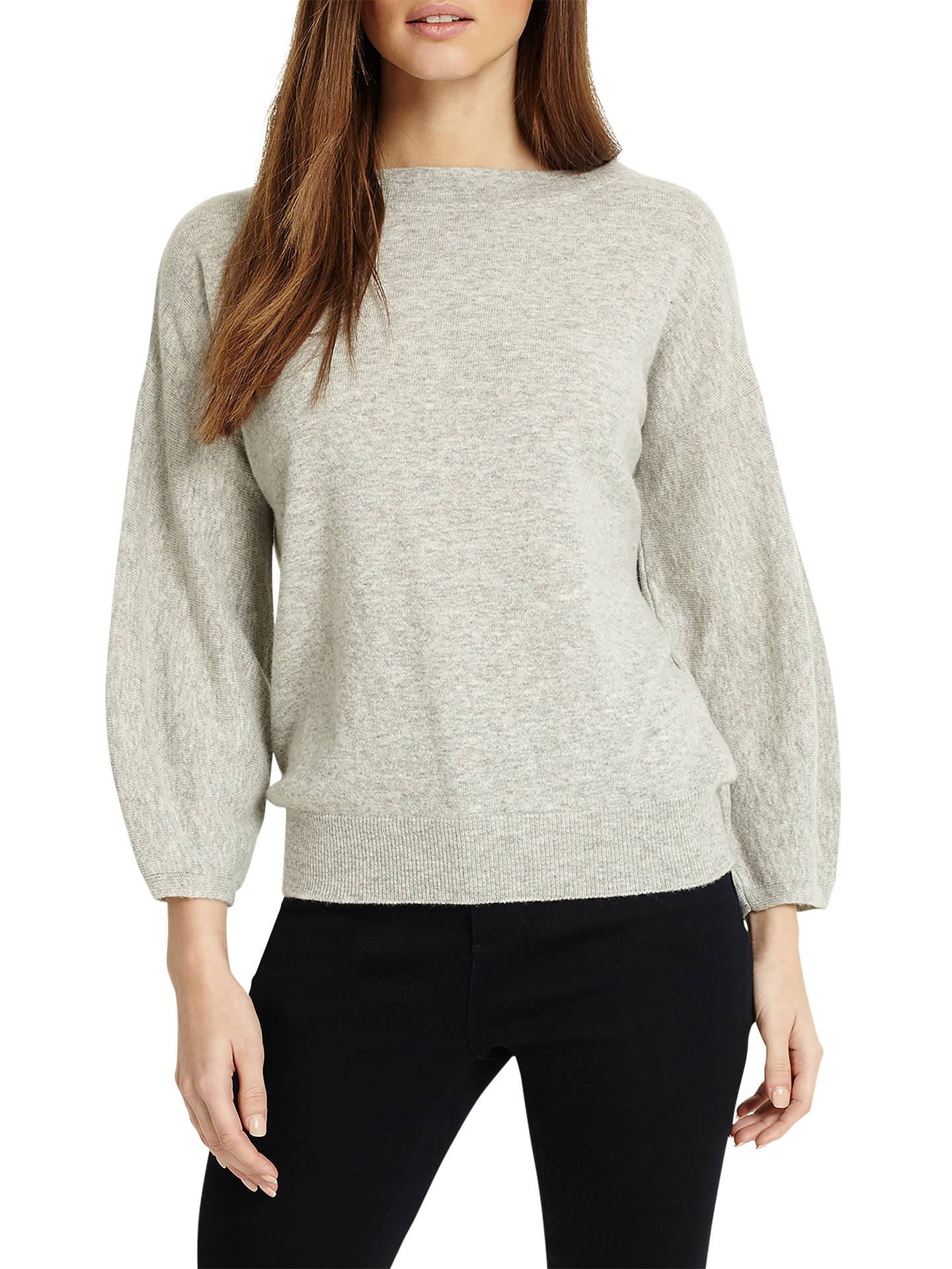 BuyPhase Eight Bette Balloon Sleeve Jumper, Silver Grey, 14 Online at johnlewis.com