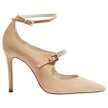 Buy Karen Millen Double Strap Mary Jane Court Shoes, Nude Suede Online at johnlewis.com