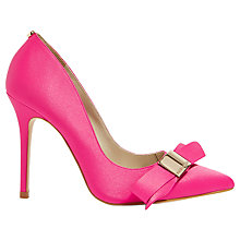 Buy Karen Millen Stiletto Heel Bow Court Shoes, Pink Online at johnlewis.com