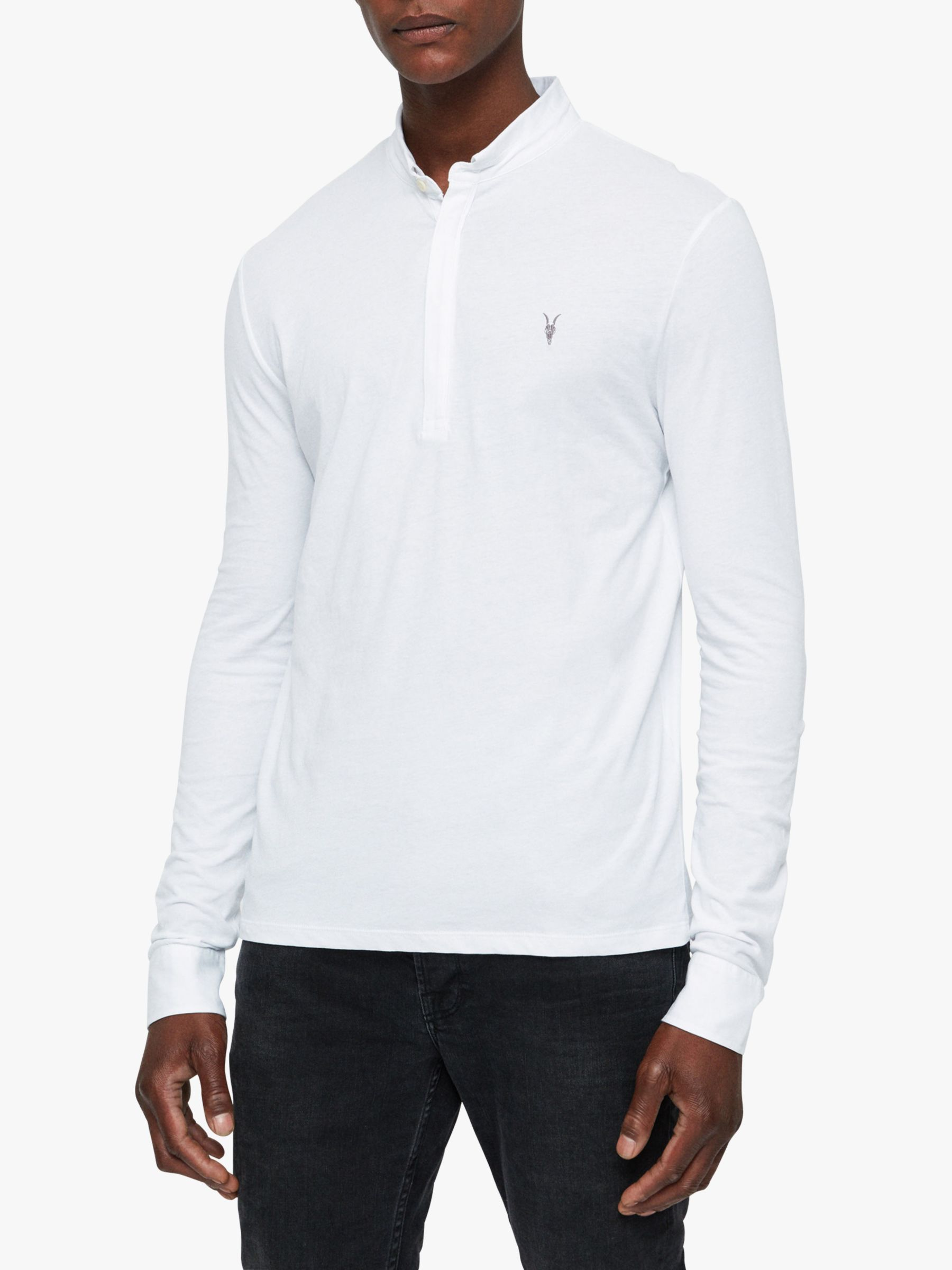 AllSaints AllSaints Grail Long Sleeve Polo Shirt