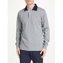 Buy GANT Heavy Rugger Jersey Top, Grey Online at johnlewis.com