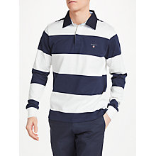 Buy GANT Rugger Bar Stripe Heavy Jersey Rugby Shirt Online at johnlewis.com