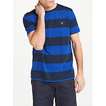 Buy GANT Original Barstripe Cotton T-Shirt, Blue Online at johnlewis.com