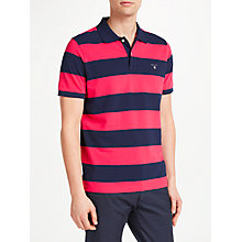 Buy GANT Barstripe Pique Short Sleeve Rugger Polo Top Online at johnlewis.com