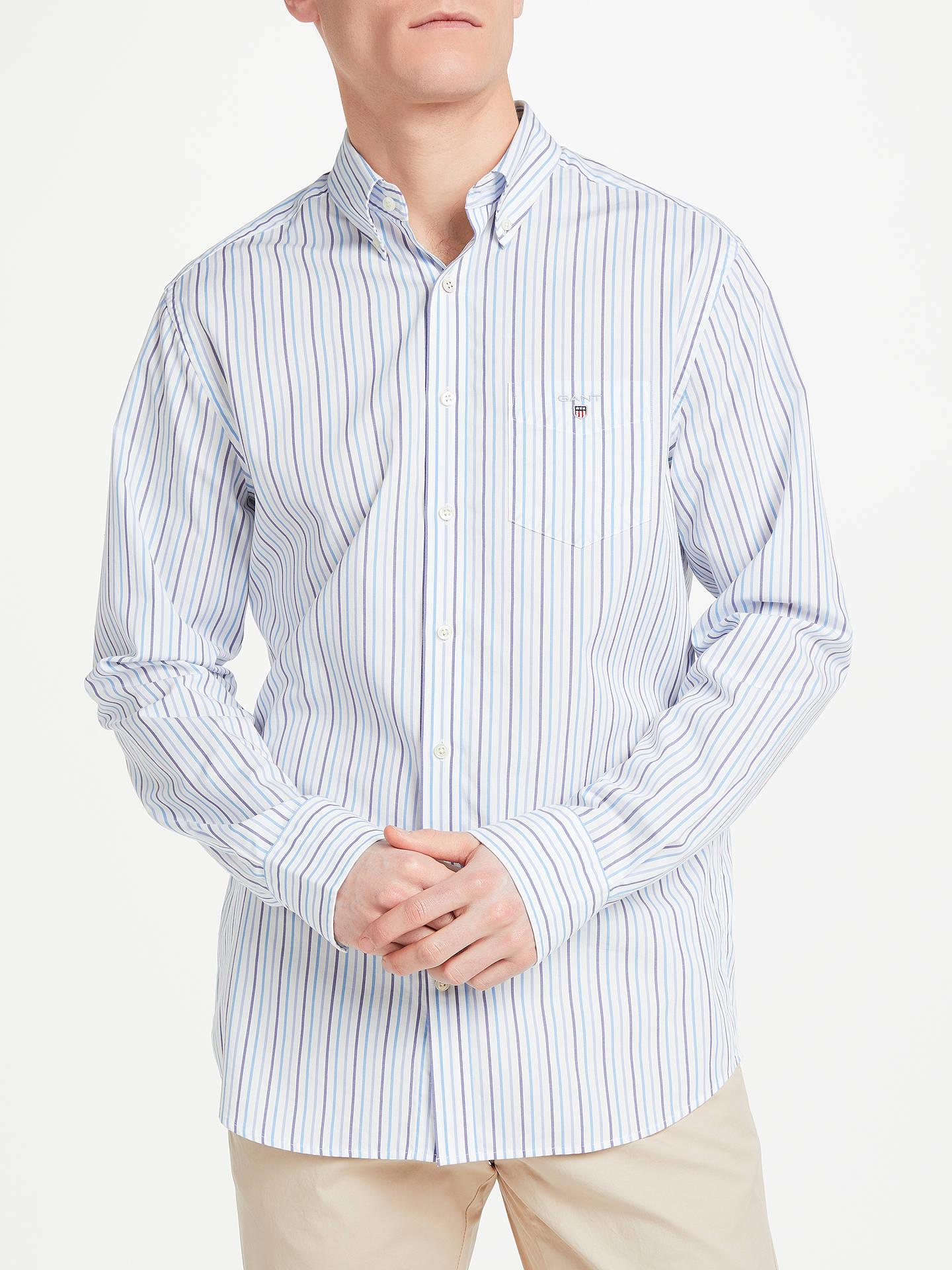 79ebc3510a Casual Shirts & Tops Gant Poplin Banker Stripe Shirt in Bright Red Pink  button down collar