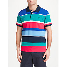 Buy GANT Multi Stripe Polo Shirt, Emerald Green Online at johnlewis.com