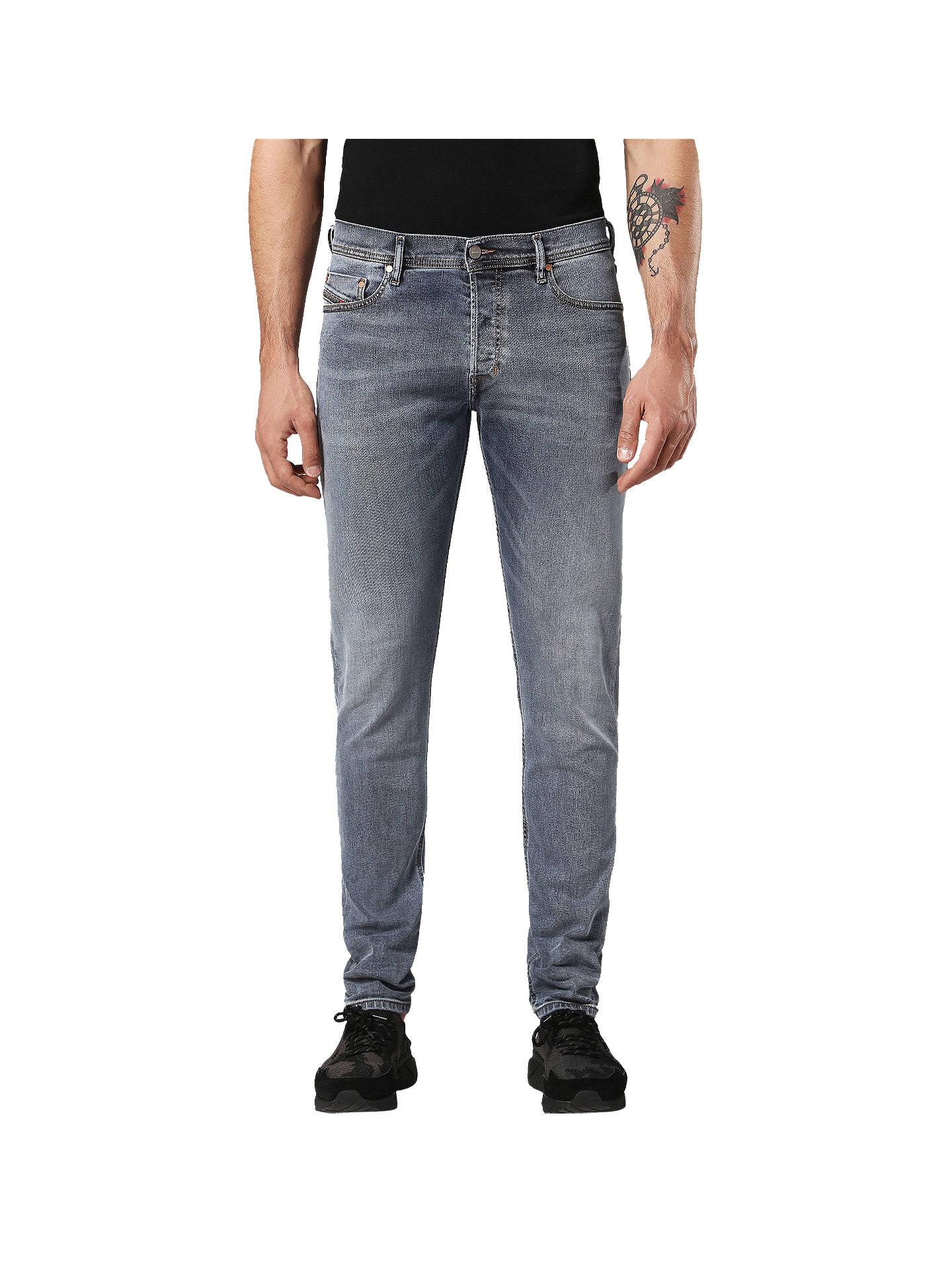 2353e7e1d2d3 Buy Diesel Tepphar 084QQ Carrot Slim Fit Jeans, Grey, 30S Online at  johnlewis.