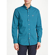 Buy GANT Tech Prep Regular Check Shirt, Emerald Online at johnlewis.com