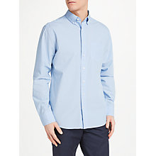Buy GANT Broadcloth Printed Long Sleeve Shirt, Blue Online at johnlewis.com