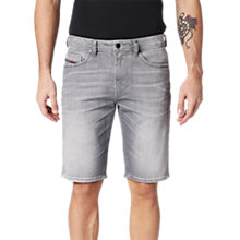 Buy Diesel Thoshort Slim Denim Shorts, Grey 0839N Online at johnlewis.com