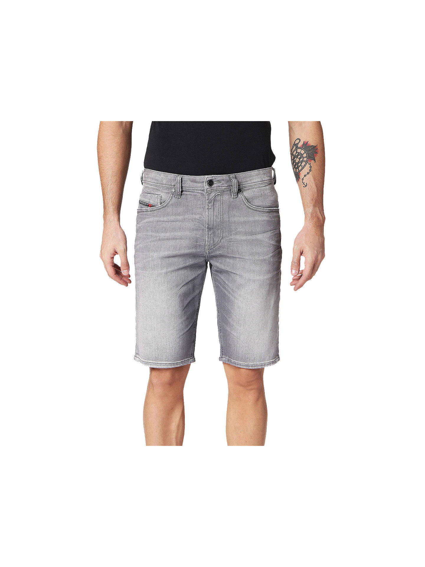 9525028473 Buy Diesel Thoshort Slim Denim Shorts, Grey 0839N, 30R Online at  johnlewis.com ...