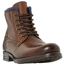 Buy Dune Channing Lace Up Boots, Tan Online at johnlewis.com
