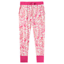 Buy Joules Lois Floral Print Jersey Cuffed Pyjama Bottoms, Ivory/Pink Online at johnlewis.com