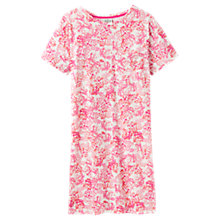 Buy Joules Honora Floral Print Jersey Nightdress, Ivory/Pink Online at johnlewis.com
