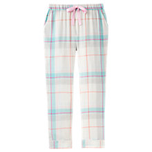 Buy Joules Snooze Check Cotton Pyjama Bottoms, Ivory/Blue Online at johnlewis.com