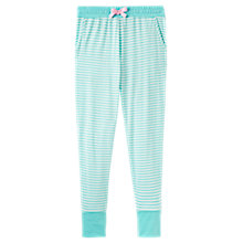 Buy Joules Lois Stripe Jersey Cuffed Pyjama Bottoms, Aqua/Multi Online at johnlewis.com