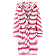 Buy Joules Rita Stripe Fleece Dressing Gown, Ivory/Pink Online at johnlewis.com