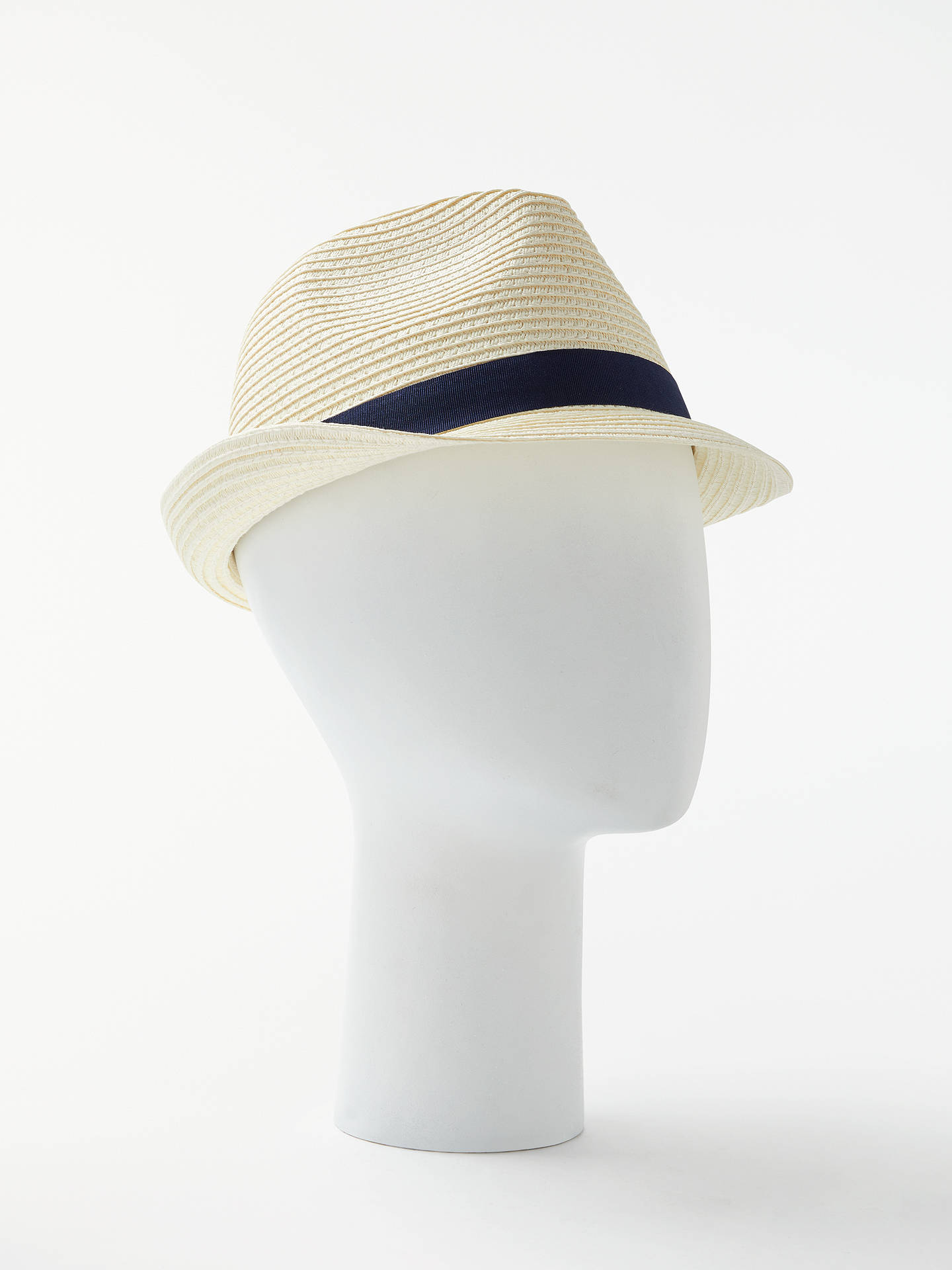 1419c08e Buy John Lewis Packable Braid Trilby Hat, Beige, S/M Online at johnlewis ...