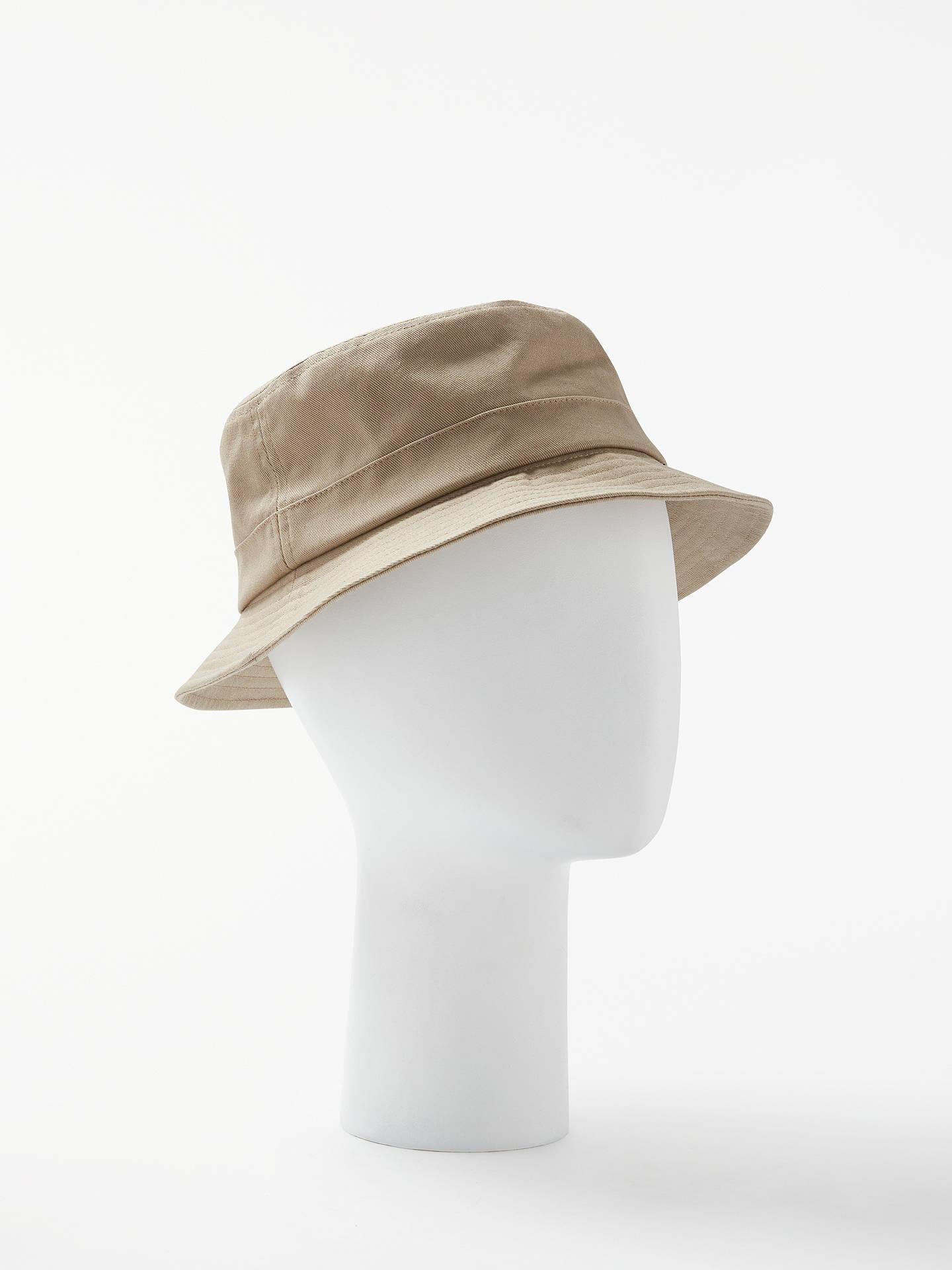 a1cc1aa62 John Lewis Bucket Hat, Khaki at John Lewis & Partners