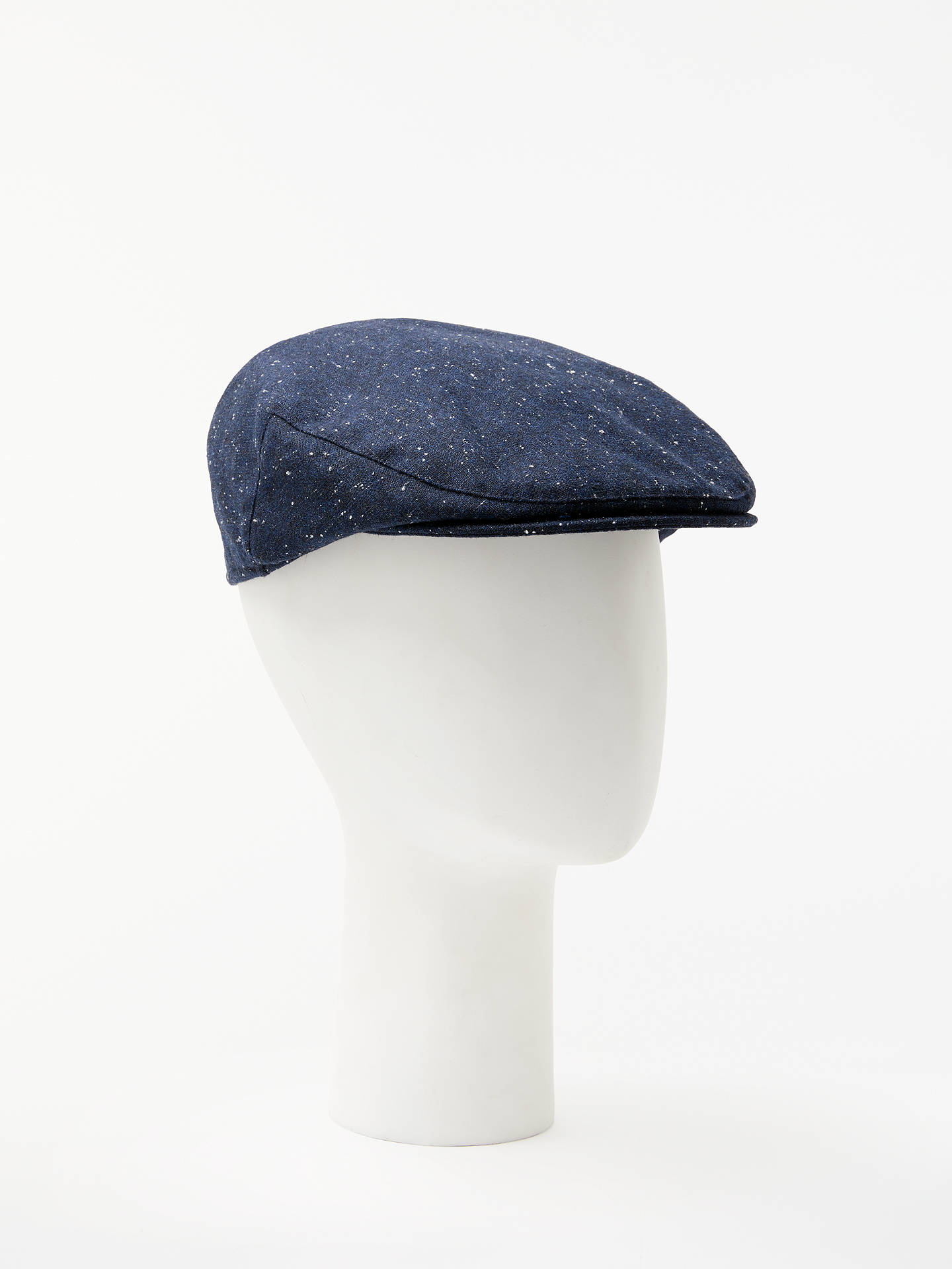 BuyJohn Lewis & Partners Flecked Flat Cap, Navy, S/M Online at johnlewis.com