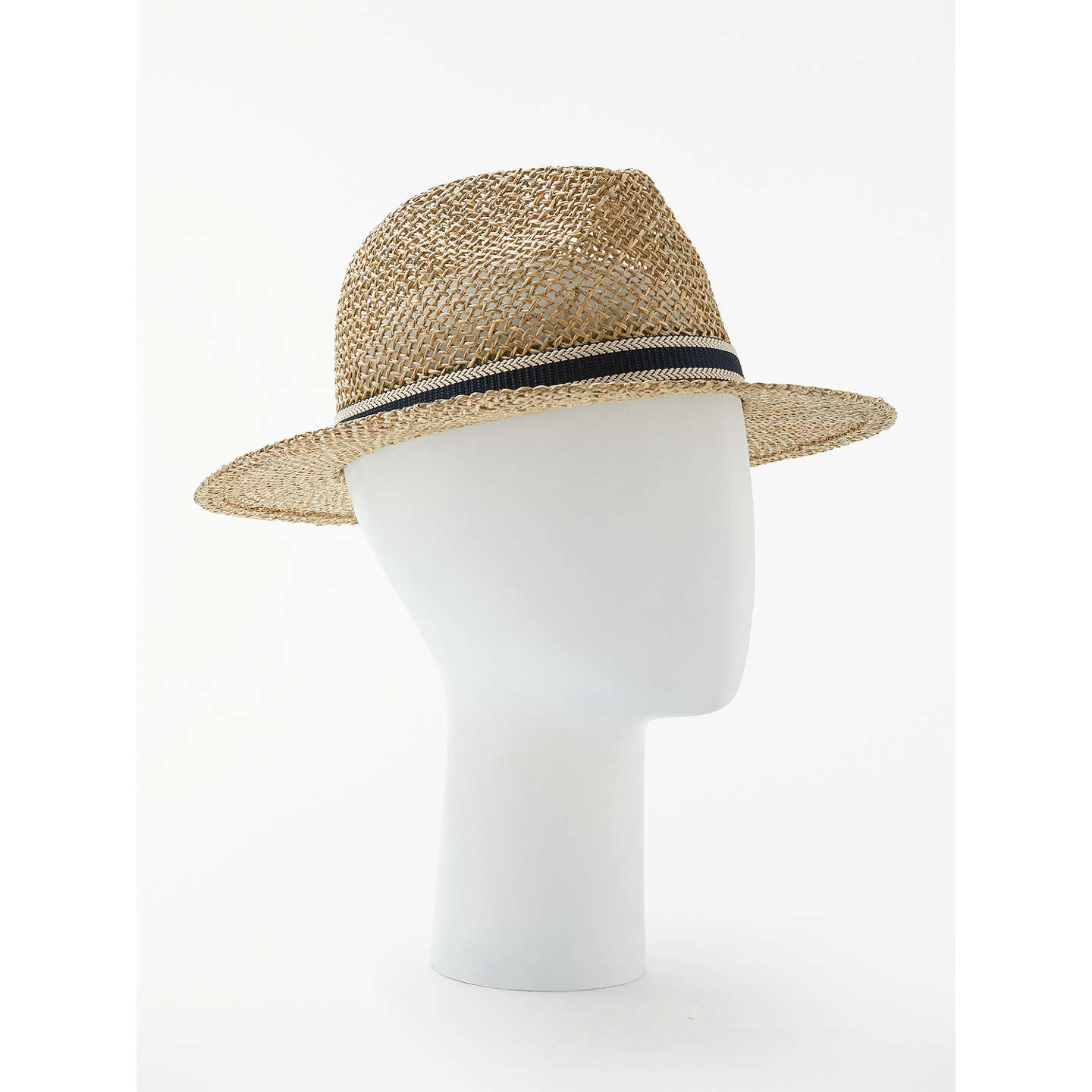 BuyJohn Lewis Seagrass Fedora Hat, Beige, S/M Online at johnlewis.com