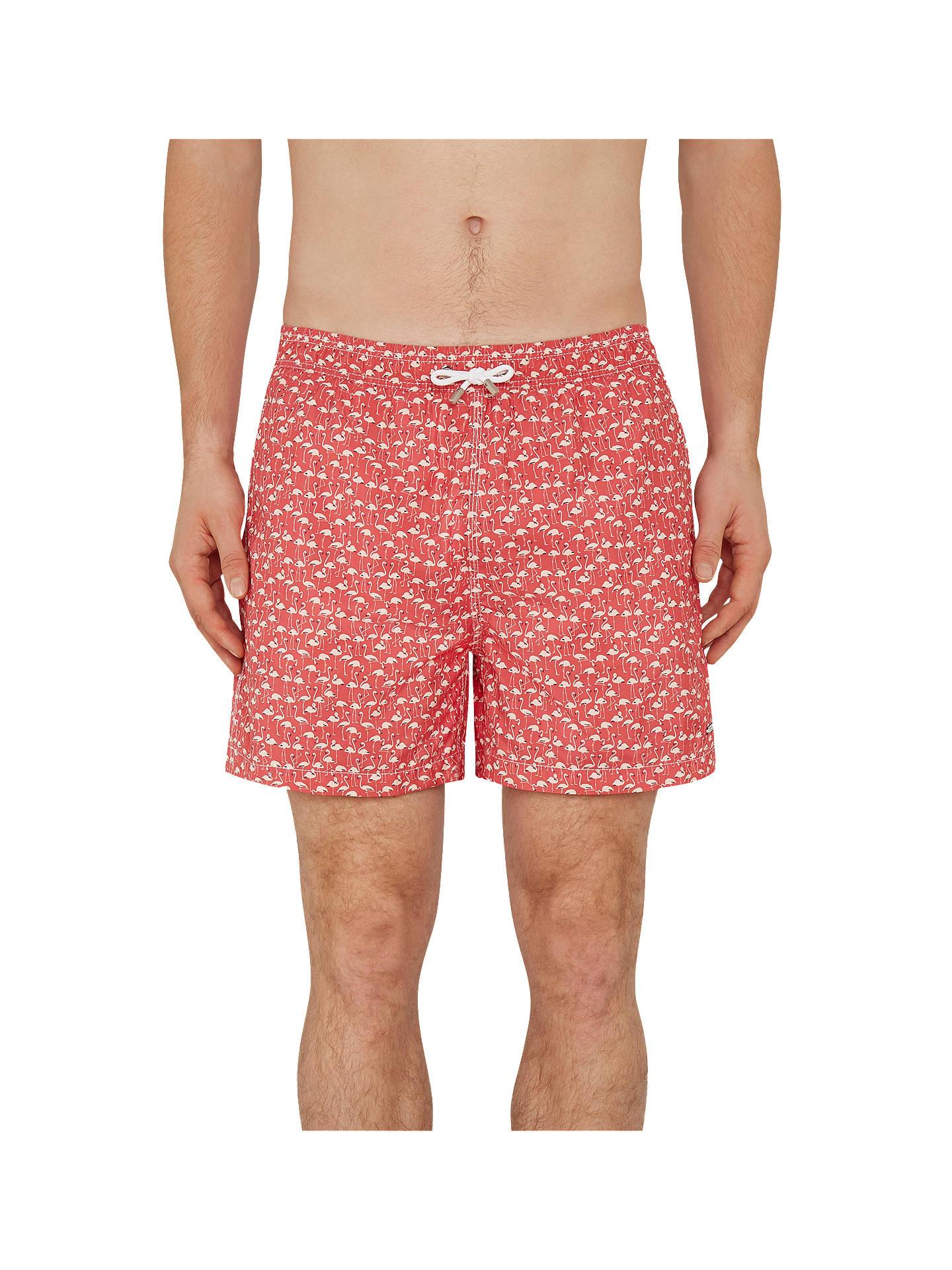 fd84604c7a86 Buy Hackett London Flamingo Print Swim Shorts, Coral, M Online at  johnlewis.com ...