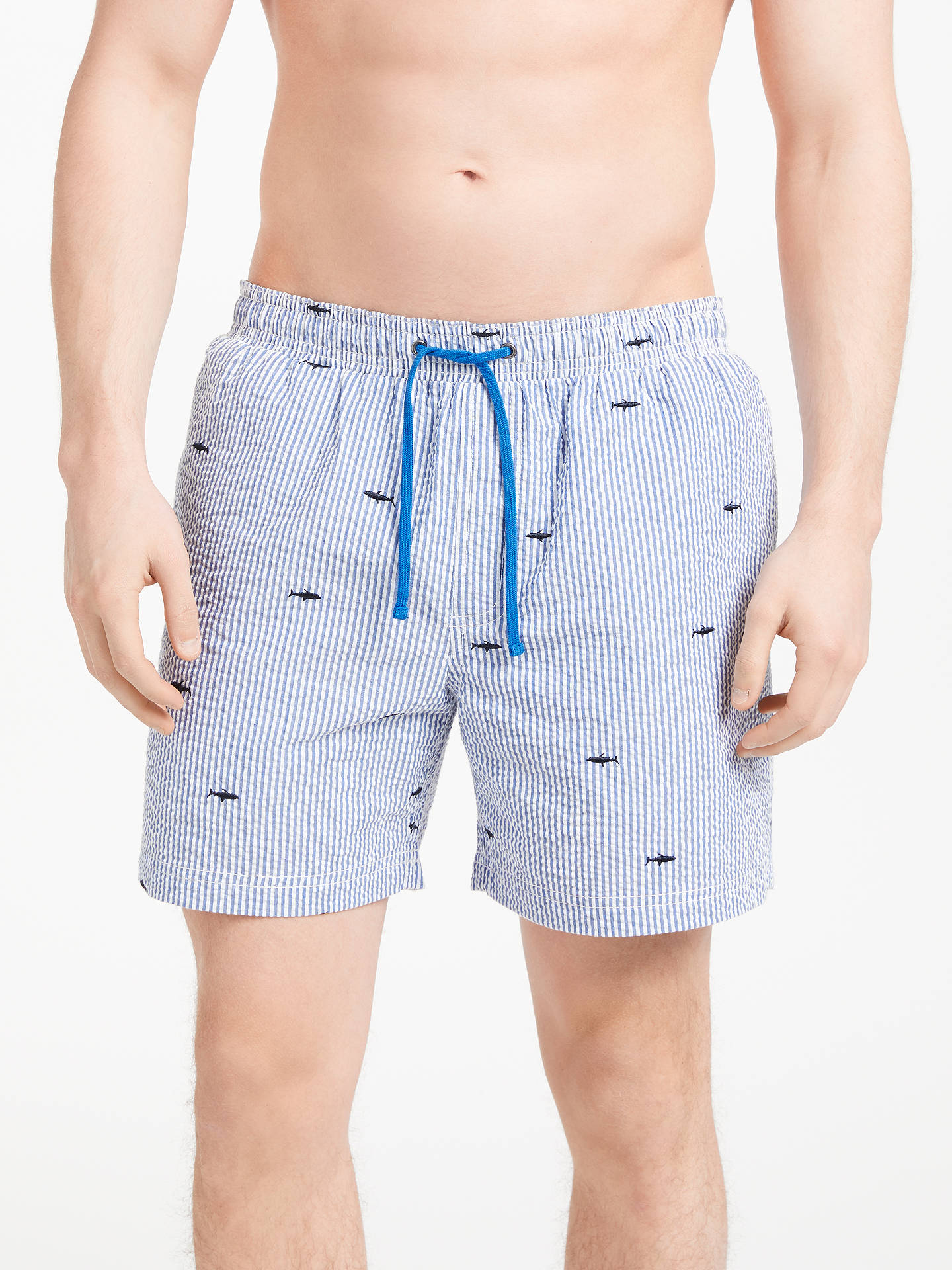 1cfcaa2a64 Buy John Lewis & Partners Whale Shark Embroidery Swim Shorts, Blue, S  Online at ...