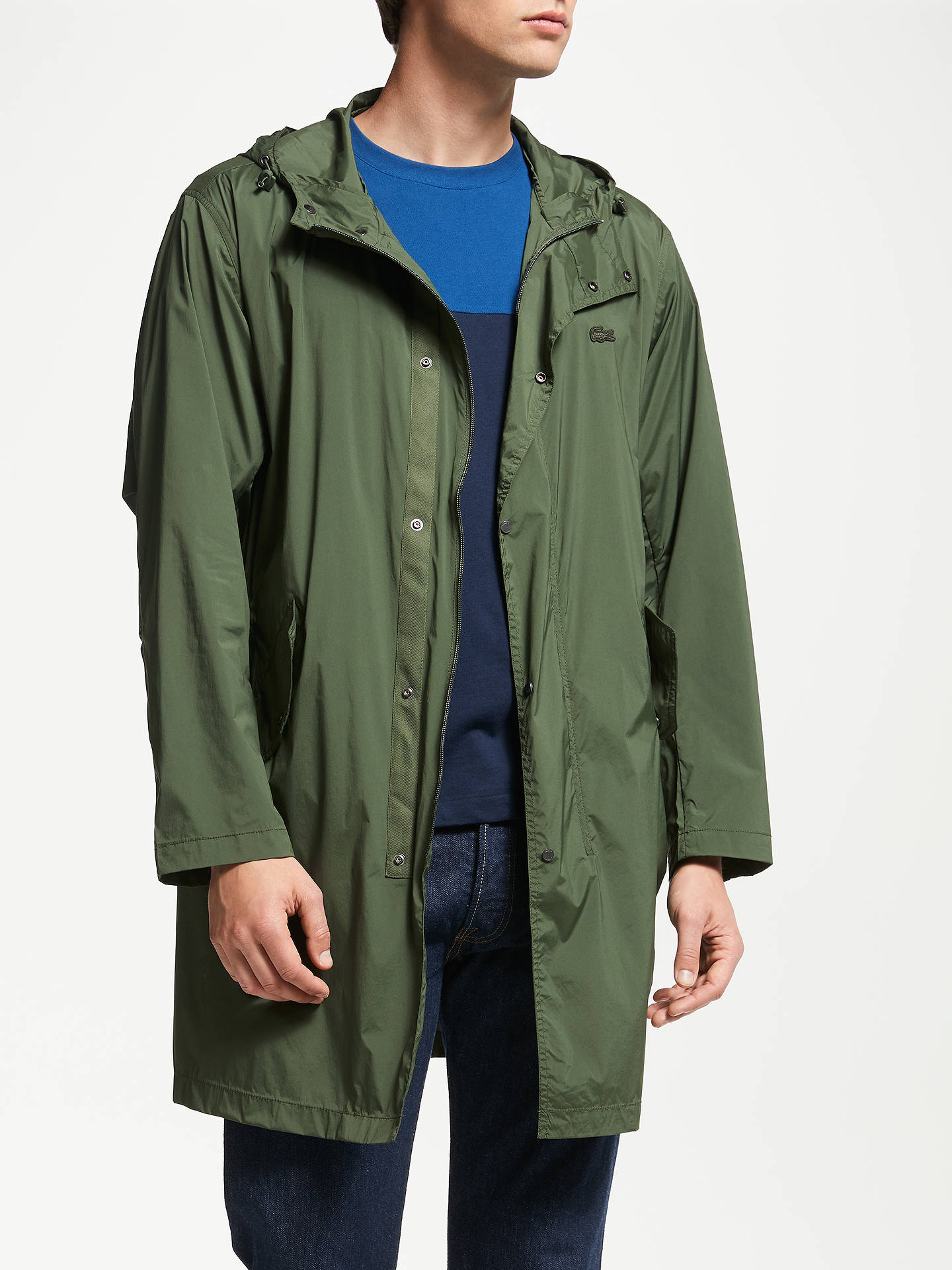 100% authentique 95600 5d04f Lacoste Fishtail Parka, Green at John Lewis & Partners