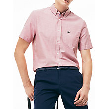 Buy Lacoste Short Sleeve Oxford Shirt Online at johnlewis.com